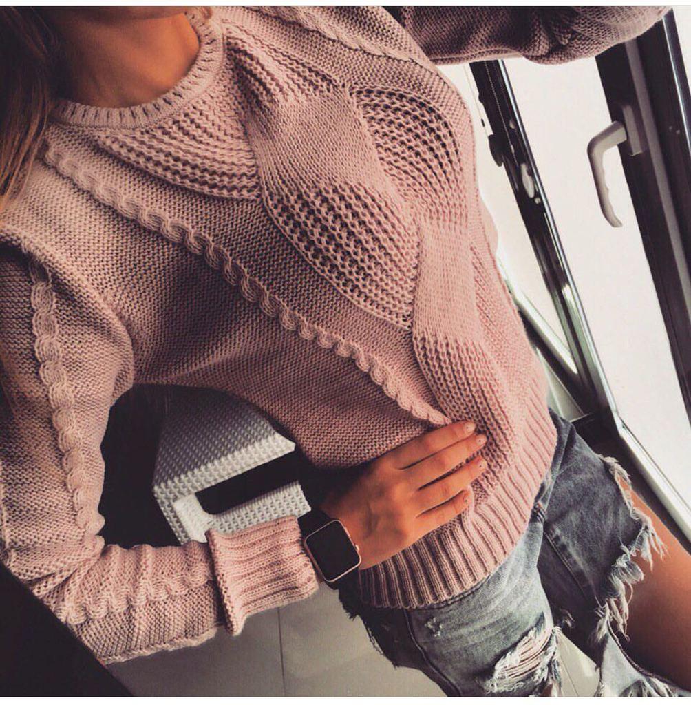 Связать модный свитер своими руками