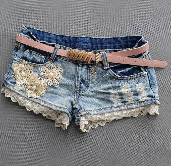 Декор джинсовых шорт своими руками 3