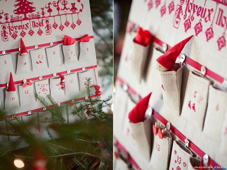 Календарь подарков своими руками
