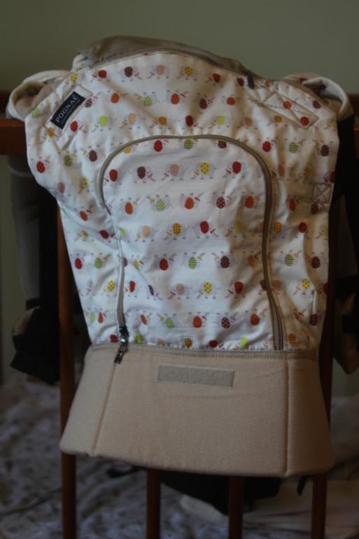 Эргономичный рюкзак Понье слоны, с сеточкой и капюшоном+ все аксессуары-б/у