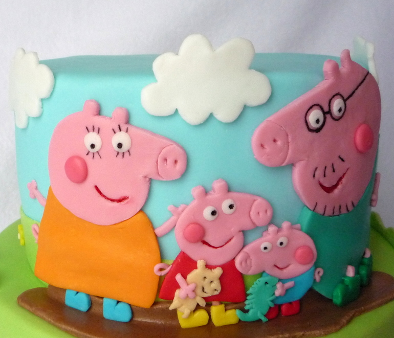 Как сделать торт свинка пеппа своими руками 27