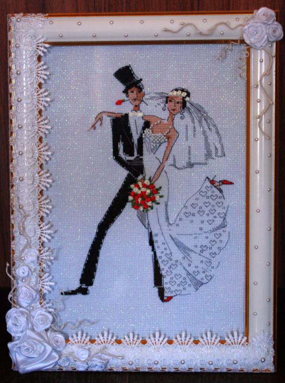 Вышивка с днем свадьбы 13