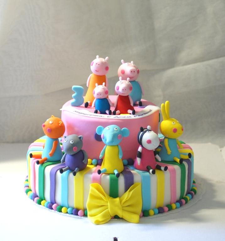 торт детский свинка пеппа фото