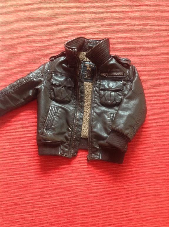 Кожаная куртка Zara Kids рост 92-98