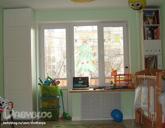 Комната для ребенка вместо балкона.