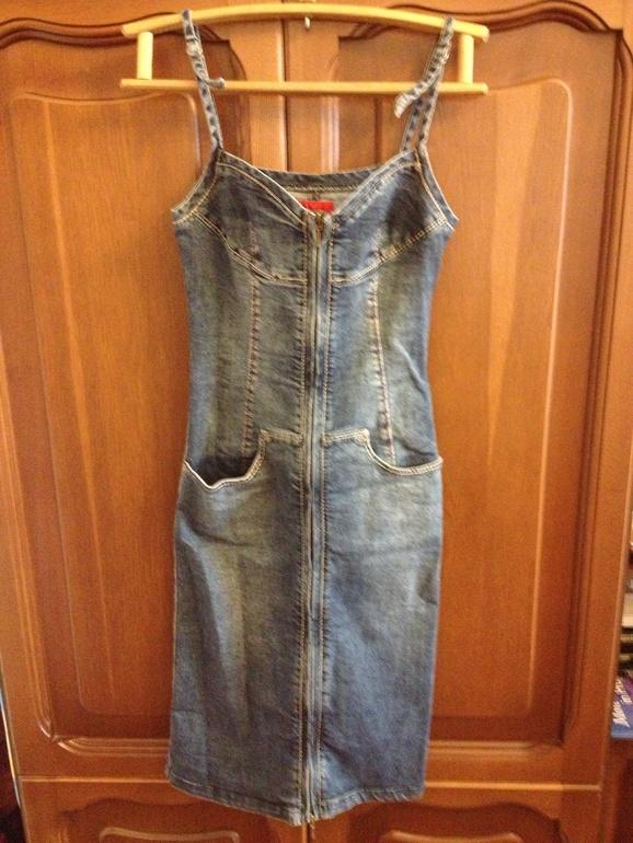 Джинсовый  сарафан  и  юбка,  отличное  состояие,  42й  размер.  500р  за  1  вещь.