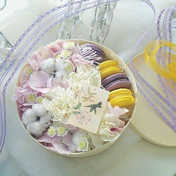 Подарок с макаронами и цветами 44