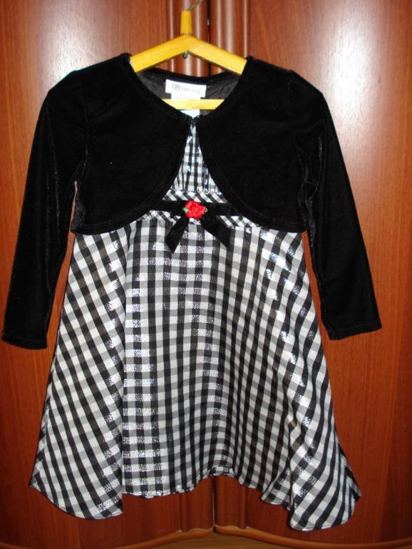 Платье Bonnie Jean 3-4 года, б/у 1 раз. 500 р. Регион, почта