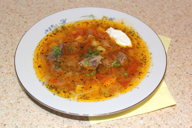 Рецепт щи со свежей капустой и говядиной
