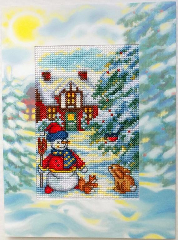 Вышивка крестом наборы новогодние 616
