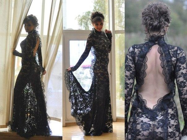 Ажурные платья в пол