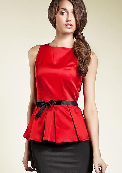 Красная Блузка Фото