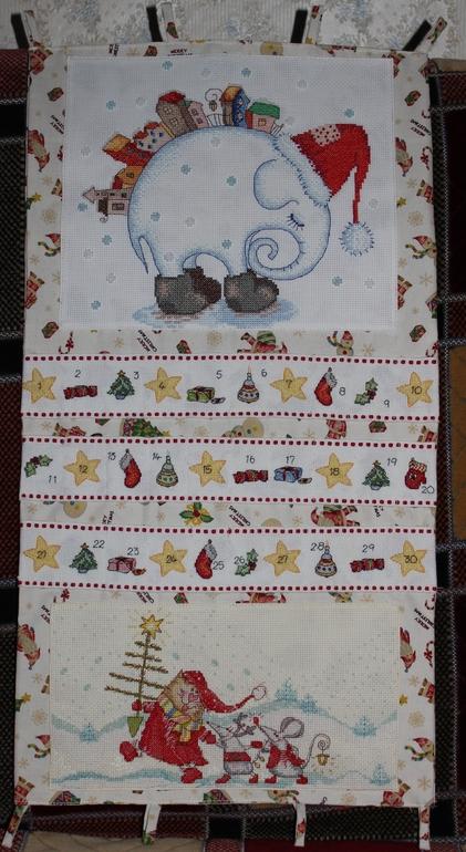 Адвент календарь с вышивкой