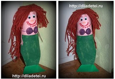 Русалочка Ариэль - поделка для девочек