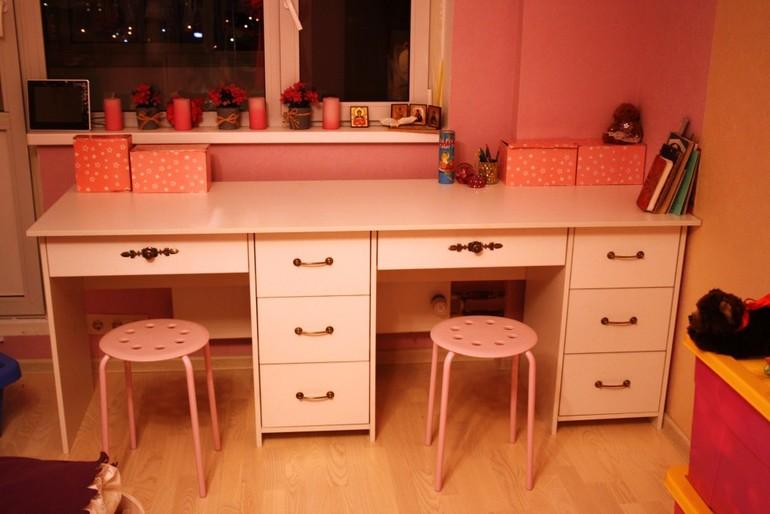 Купить письменный стол для двоих детей mk161.ru.