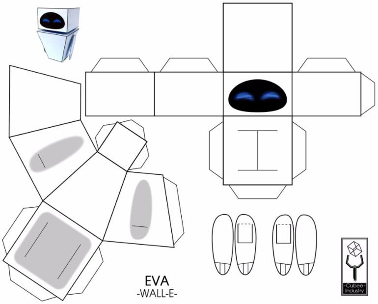 Роботы из бумаги своими руками схемы распечатать