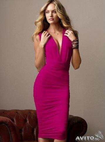 Мультиплатье Victorias Secret  малиновое 1500 руб