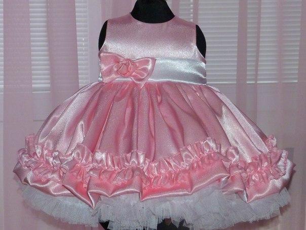 Как сшить пышное платье на годовалую девочку 4
