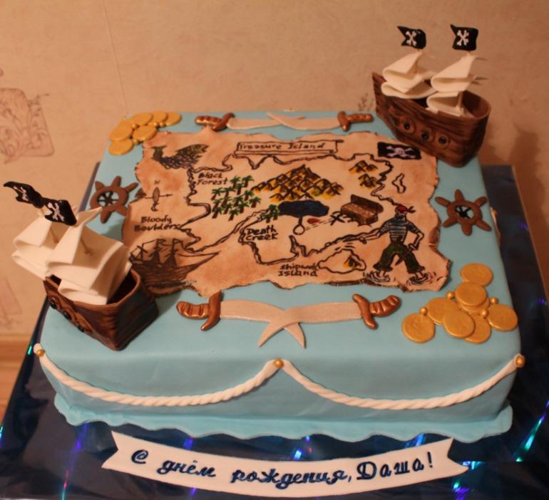 Пиратский торт для мальчика