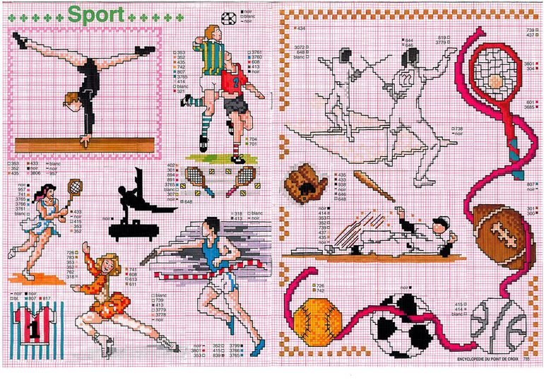 Спортивная тематика вышивка