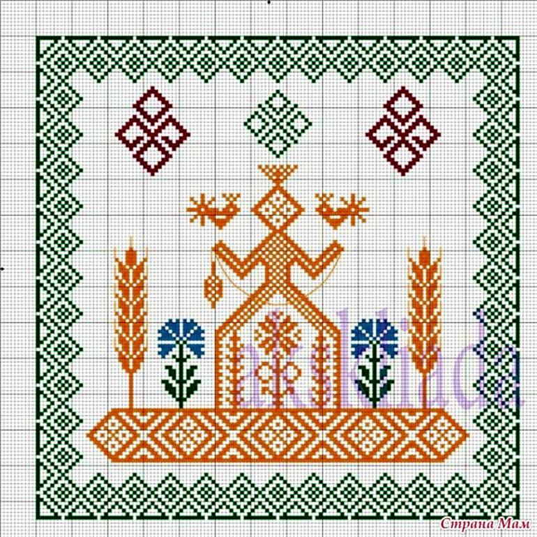 Вышивка славянская обереги макошь