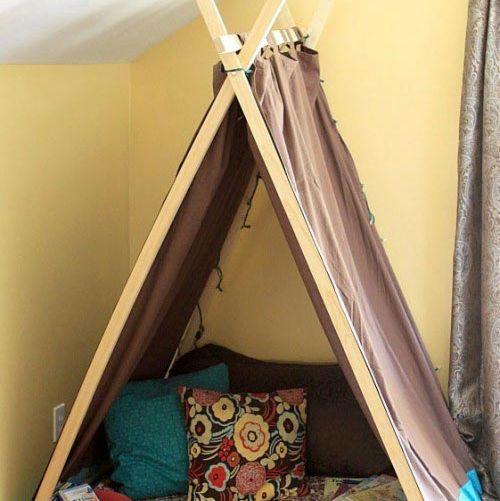 Как сделать палатку из дерева