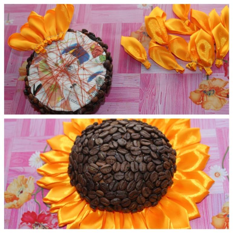 Цветок своими руками из кофе 998