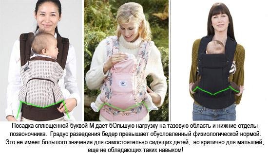Эрго рюкзаки с м образной позицией рюкзаки диагональные