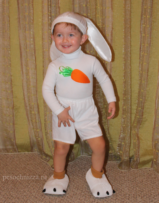 Костюм зайца на новый год для мальчика