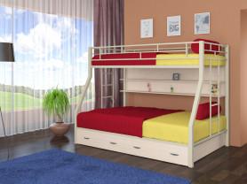 Двухъярусная металлическая кровать Гранада
