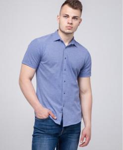 Стильная рубашка молодежная Semco синяя модель