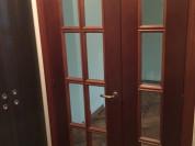 Дверь деревянная двойная распашная со стёклами б/у
