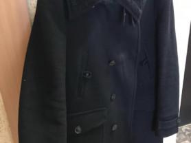 Пальто чёрное осенне зимнее Zara men XL