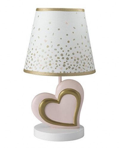 Lambs & Ivy Confetti Heart Lamp with Shade & Bulb