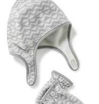 Набор (новый) шапочка и варежки Old Navy флисовые