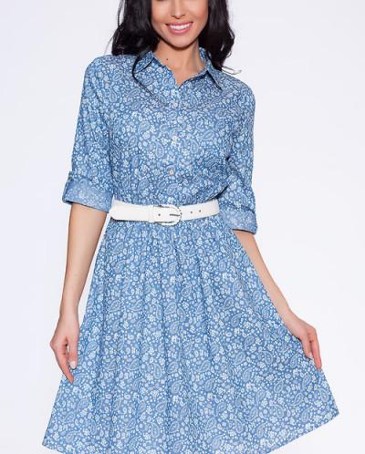 6999 Платье Голубой