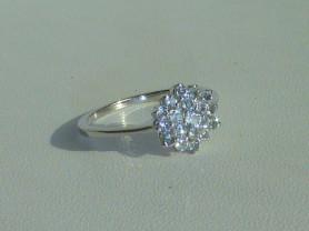 кольцо серебро 925* + топазы