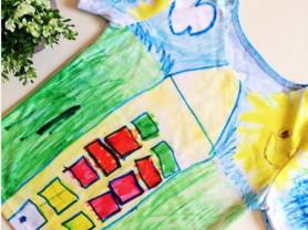 Футболка с рисунками вашего ребенка