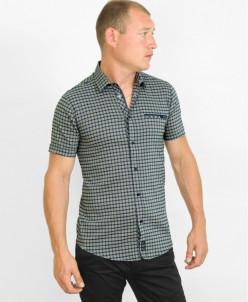 Коричневая фирменная молодежная рубашка Black Stone