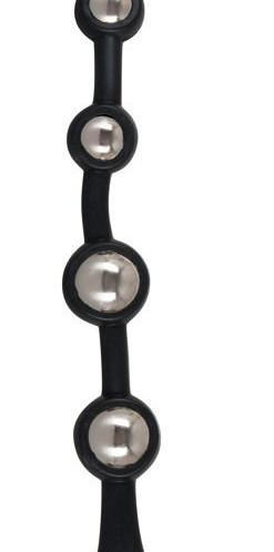 Анальная цепочка с ручкой-кольцом Bendable Silicone