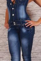 Фирменный джинсовый комбинезон, размер L