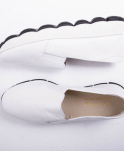 Слипоны кожа белые №340-1654-5 белый флотар