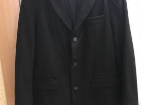 Пальто чёрное осеннее celio XL
