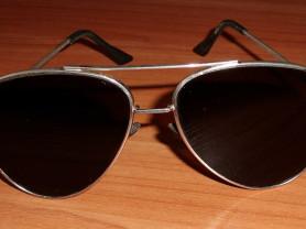 Очки солнцезащитные мужские капли в метал.оправе