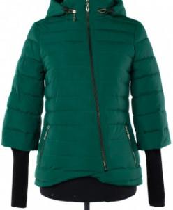 04-1508 Куртка демисезонная (синтепон 150) Плащевка Малахит