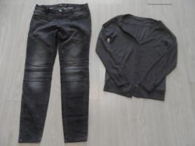 Комплект мало бу джинсы кардиган 46-48.Цена за все