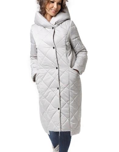 "Пальто ""Хесения"" Артикул: 18421 светло-серый"