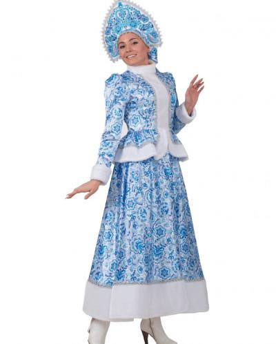 Карнавальный костюм Снегурочка Гжель (д/взр) 1139