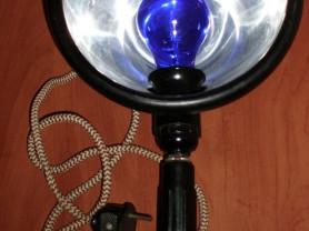 Лампа синяя рефлектор Минина рабочая