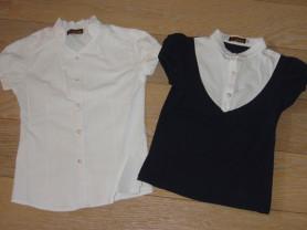 Школьные блузки с коротким рукавом на рост 140-146